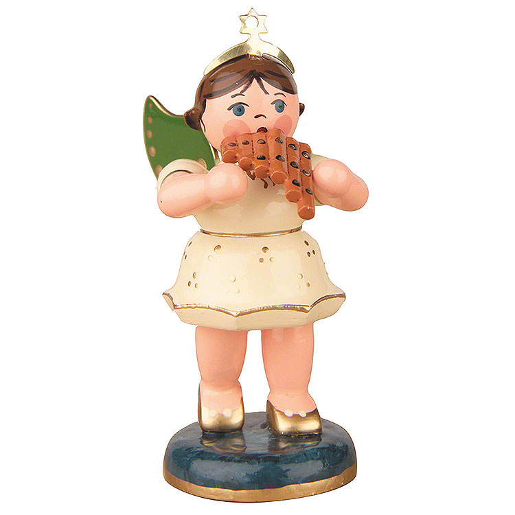 Angel with Pan Flute  -  6,5cm / 2,5 inch