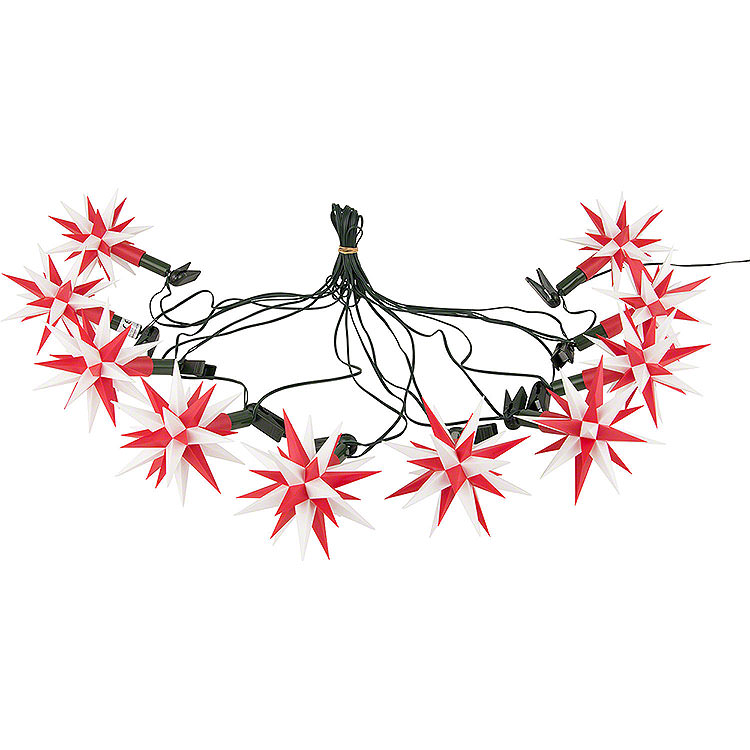 Herrnhuter Moravian Star LED Chain A1s White/Red Plastic  -  14m/15yard