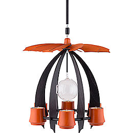 1 - Tier Hanging Pyramid NOVA  -  Anthracite/Orange  -  33cm / 13 inch