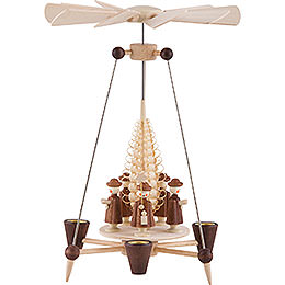 1 - Tier Pyramid  -  Carolers  -  26cm / 10 inch