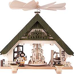 1 - Tier Pyramid House  -  Crafter's Workshop green  -  28cm / 11 inch