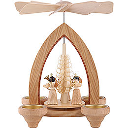 1 - Tier Pyramid  -  Pleated Skirt Angels  -  Natural  -  26cm / 10.2 inch