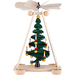 1 - Tier Pyramid with Level Christmas Tree  -  40cm / 15.7 inch