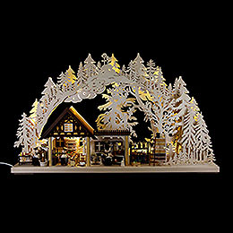 3D Candle Arch  -  Chefs  -  72x42,5x11cm / 28.3x16.7x4.3 inch
