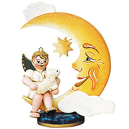 Angel Boy with Moon and Sheep  -  10cm / 4 inch