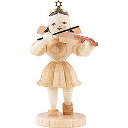 Angel Short Skirt Violin, Natural  -  6,6cm / 2.6 inch