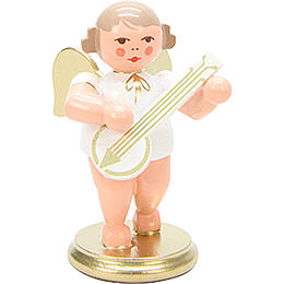 Angel White/Gold with Banjo  -  6cm / 2 inch