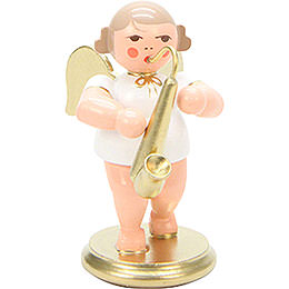 Angel White/Gold with Saxophone  -  6,0cm / 2 inch