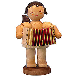 Angel with Accordion  -  Natural Colors  -  Standing  -  9,5cm / 3,7 inch