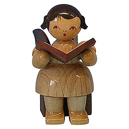 Angel with Book  -  Natural Colors  -  Sitting  -  5cm / 2 inch