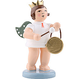 Angel with Crown and Gong  -  6,5cm / 2.5 inch