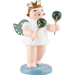 Angel with Crown and Maraca  -  6,5cm / 2.5 inch