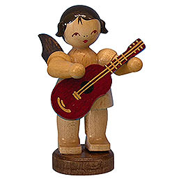 Angel with Guitar  -  Natural Colors  -  Standing  -  6cm / 2,3 inch