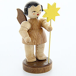 Angel with Star  -  Natural Colors  -  Standing  -  6cm / 2.4 inch
