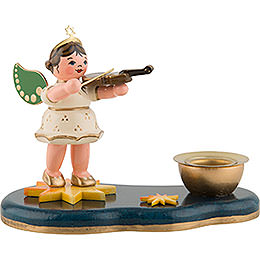 Angel with Violin  -  Candle Holder  -  6,5cm / 2,5 inch