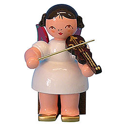 Angel with Violin  -  Red Wings  -  Sitting  -  5cm / 2 inch