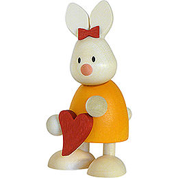 Bunny Emma Standing with Heart  -  9cm / 3.5 inch