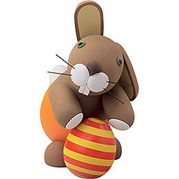 """Bunny """"Heiner"""" with Easter Egg  -  16cm / 6.3 inch"""