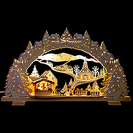Candle Arch  -  Barbecue Lodge with Snow  -  53x31cm / 20.9x12.2 inch