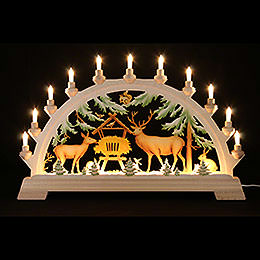 Candle Arch  -  Feeding of the Game, Colored  -  65x40cm / 26x17.5 inch