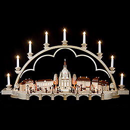 Candle Arch  -  Old Dresden -  230 Volt  -  103cm / 41 inch