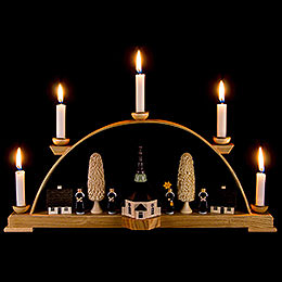 Candle Arch  -  Seiffen Church with Carolers  -  44x19,5cm / 17x8 inch