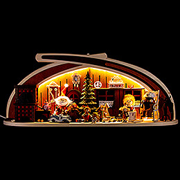 Candle Arch  -  Solid Wood Distribution of Presents  -  60x24cm / 23.6x9.4 inch