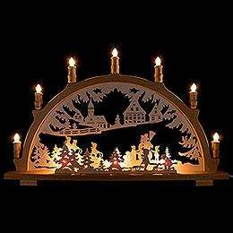 Candle Arch  -  Winter Children  -  66x41cm / 26x16.1 inch