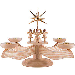 Candle Holder  -  4 Angels Natural  -  26cm / 10.2 inch
