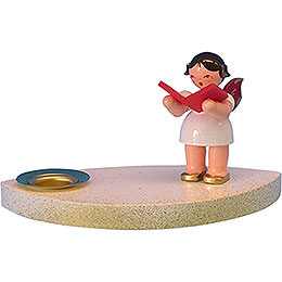 Candle Holder  -  Angel with Book  -  7cm / 2.8 inch