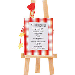 Easel with Recipe  -  6,5cm / 2.6 inch
