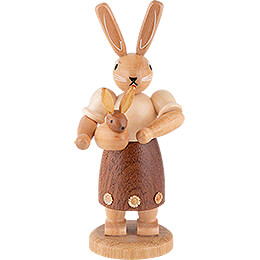 Easter Bunny Mother with Child  -  11cm / 4 inch