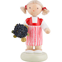 Flax Haired Children Little Girl with Elder Flower  -  5cm / 2 inch