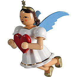 Floating Angel Colored, Heart  -  6,6cm / 2.6 inch