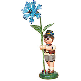 Flower Child Boy with Cornflower  -  11cm / 4,3 inch