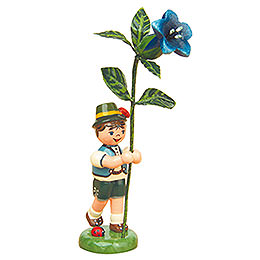 Flower Child Boy with Gentian  -  11cm / 4,3 inch