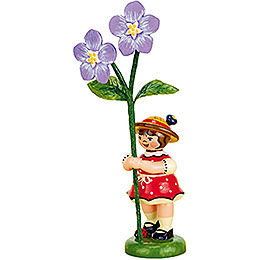 Flower Girl with Flax  -  11cm / 4,3 inch