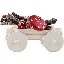 Hand Cart with Toadstools  -  Edition Flade & Friends  -  2cm / 0.8 inch
