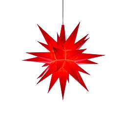 Herrnhuter Moravian Star A1e Red Plastic  -  13cm/5.1 inch