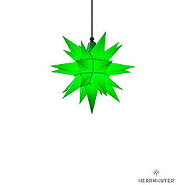 Herrnhuter Moravian Star A4 Green Plastic  -  40cm/16 inch