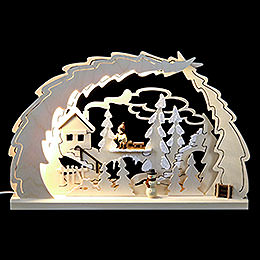 LED Candle Arch  -  Sled Hike  -  40x28,5x4,5cm / 15.7x11x1.7 inch