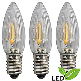 LED Rippled Bulb Filament  -  E10 Socket  -  16V