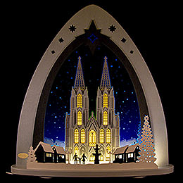 """Light Triangle  -  """"Cologne Cathedral""""  -  52x53,5x9cm / 20x21x3.5 inch"""
