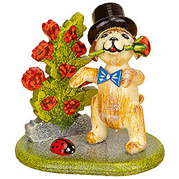 Little Rose Gentleman  -  Set of Three  -  4cm / 1,5 inch