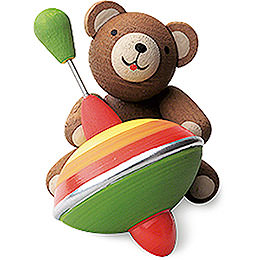 Lucky Bear with Humming Top  -  3cm / 1.2 inch