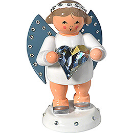 Messenger of Friendship with SWAROVSKI - Heart and Candle Holder  -  6cm / 2.4 inch
