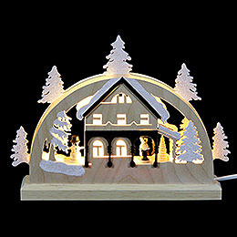 Mini Candle Arch  -  Forest House  -  23x15x4.5cm / 9x6x2 inch