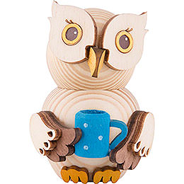Mini Owl with Cup  -  7cm / 2.8 inch