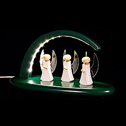 Modern Light Arch with LED  -  Angels  -  green  -  24x13cm / 9.4x5.1 inch