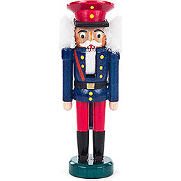 Nutcracker  -  Eisenbahner Blue - Red  -  14cm / 5.5 inch
